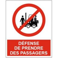 Panneau défense de prendre des passagers