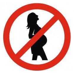 Panneau femme enceinte interdit