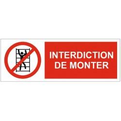 Panneau interdiction de monter
