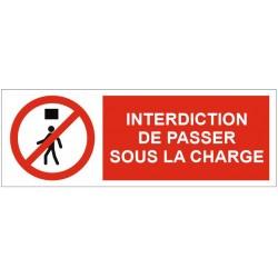 Panneau interdiction de passer sous la charge