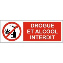 Panneau drogue et alcool interdit