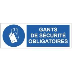 Panneau gants de sécurité obligatoires