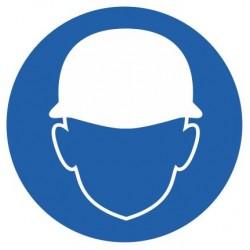 Panneau casque de sécurité obligatoire