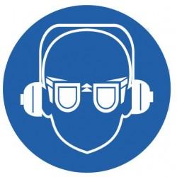 Panneau équipement antibruit et lunettes soudeurs obligatoiresvisière de protection obligatoires