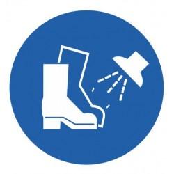 Panneau chaussures de sécurité nettoyés