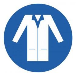 Panneau blouse de protection obligatoire