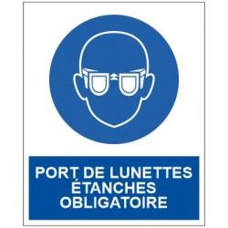 Panneau port de lunettes étanches obligatoire