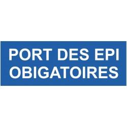 Panneau port des EPI obligatoires