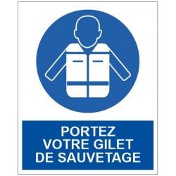 Panneau portez votre gilet de sauvetage