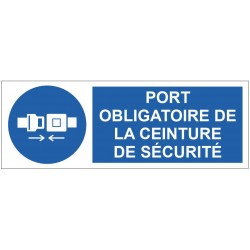 Panneau port obligatoire de la ceinture de sécurité