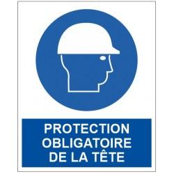 Panneau protection obligatoire de la tête