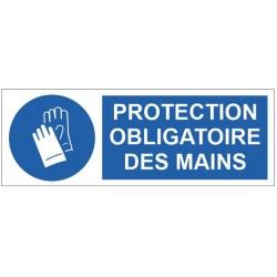 Panneau protection obligatoire des mains