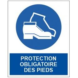Panneau protection obligatoire des pieds
