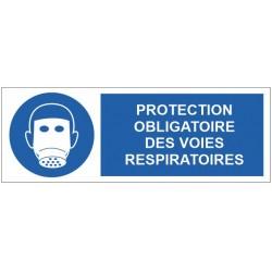 Panneau protection obligatoire des voies respiratoires