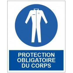 Panneau protection obligatoire du corps