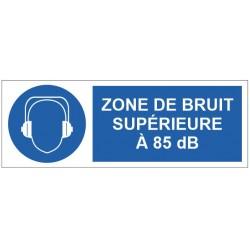 Panneau zone de bruit supérieure à 85 dB