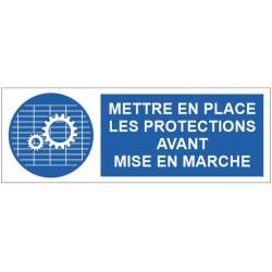 Panneau mettre en place les protections avant mise en marche