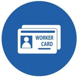 Panneau obligation worker card