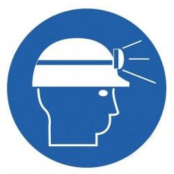 Panneau obligation lampe frontale