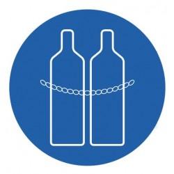 Panneau chaînes pour bouteilles de gaz obligatoires