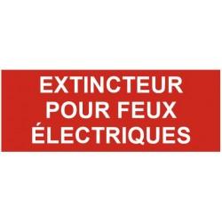 Panneau extincteur pour feux électroniques
