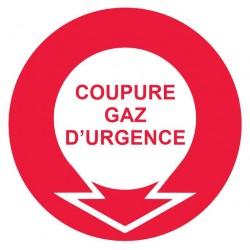 Panneau coupure de gaz d'urgence