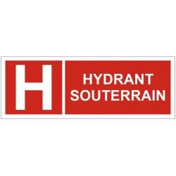 Panneau incendie hydrant souterrain