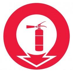 Panneau incendie extincteur