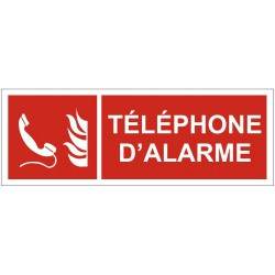Panneau incendie téléphone d'alarme