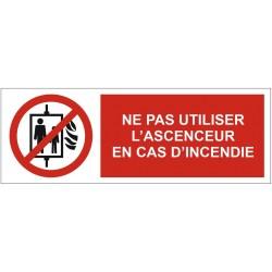 Panneau ne pas utiliser l'ascenseur en cas d'incendie