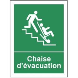 Autocollant chaise d'évacuation