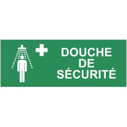 Autocollant douche de sécurité