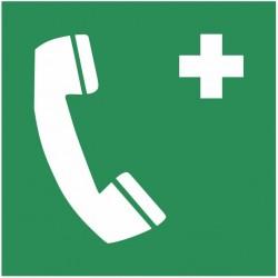 Autocollant téléphone secours